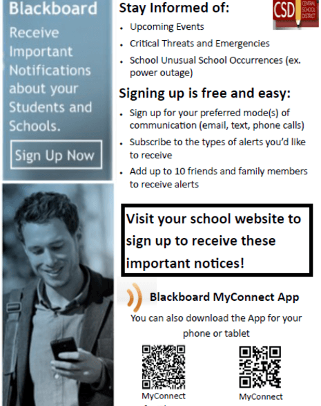 Photo tells why it is important to sign up for Blackboard.